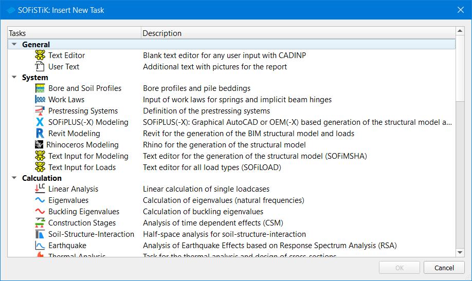 Insert New Tasks - Task Library